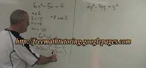 Use the Complex Trinomial factoring method