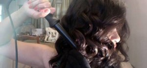 Use a clipless curling iron to curl hair