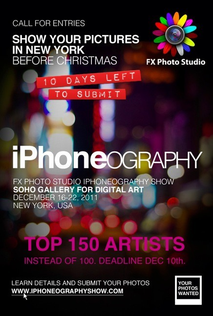 International iPhoneography Exhibition in NYC Calling for Entries