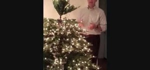 Set up an artifical Christmas tree in your home