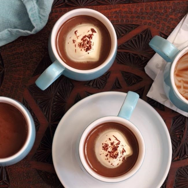 These mocha custards contain Kahlua , coffee, chocolate, and are ...