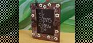 Make an edible picture frame made entirely of chocolate