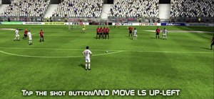 Do a low free kick in FIFA 09