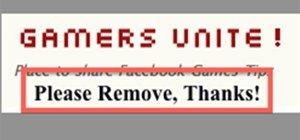 Remove Gamers Unite from your Facebook Account