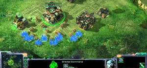 Set up a Terran double command center build order in large maps in StarCraft 2