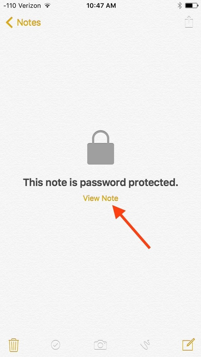 How to Lock iPhone Notes with Touch ID or a Password
