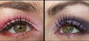 Create a pink and purple smokey eye for prom