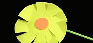 Make foam gaillardia amber wheel flowers with the kids