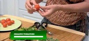 Make raw, vegan and organic tomato basil appetizers