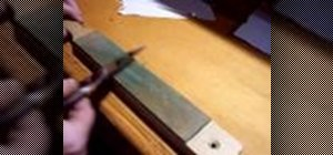 Sharpen a convex wood carving knife