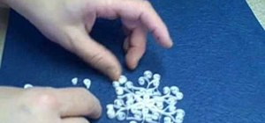 Quill beautiful snowflakes for Christmas ornaments