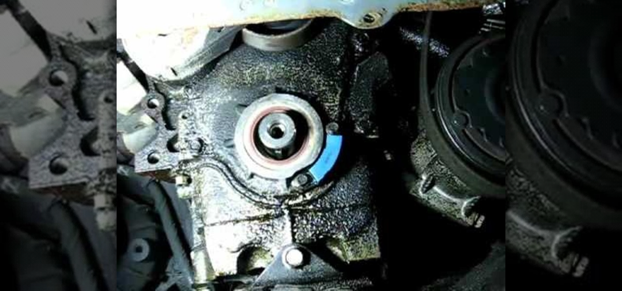 How To Replace The Front Crankshaft Oil Seal On A Gm 3 1l
