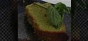 Bake Japanese green tea pound cake