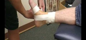 Easily tape an ankle to prevent an injury