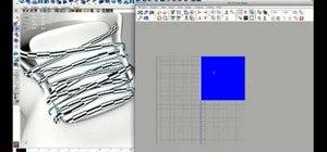 Create a 3D UV of shoelaces in Maya