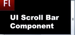 Add a user interface scrollbar component to your Flash based project