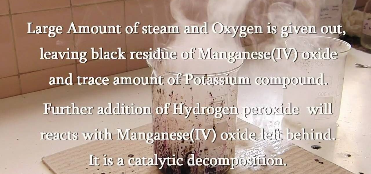 How To Make Oxygen From Permanganate And Hydrogen Peroxide Science