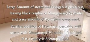 Make oxygen from permanganate and hydrogen peroxide
