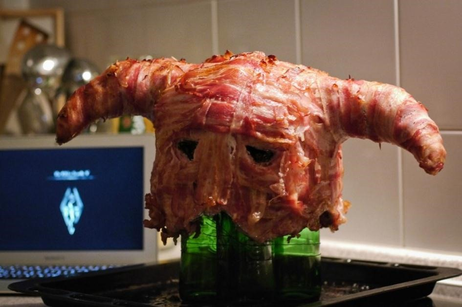 Skyrim Bacon Helmet
