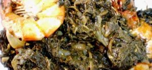 Make Filipino laing (taro leaves & fish)