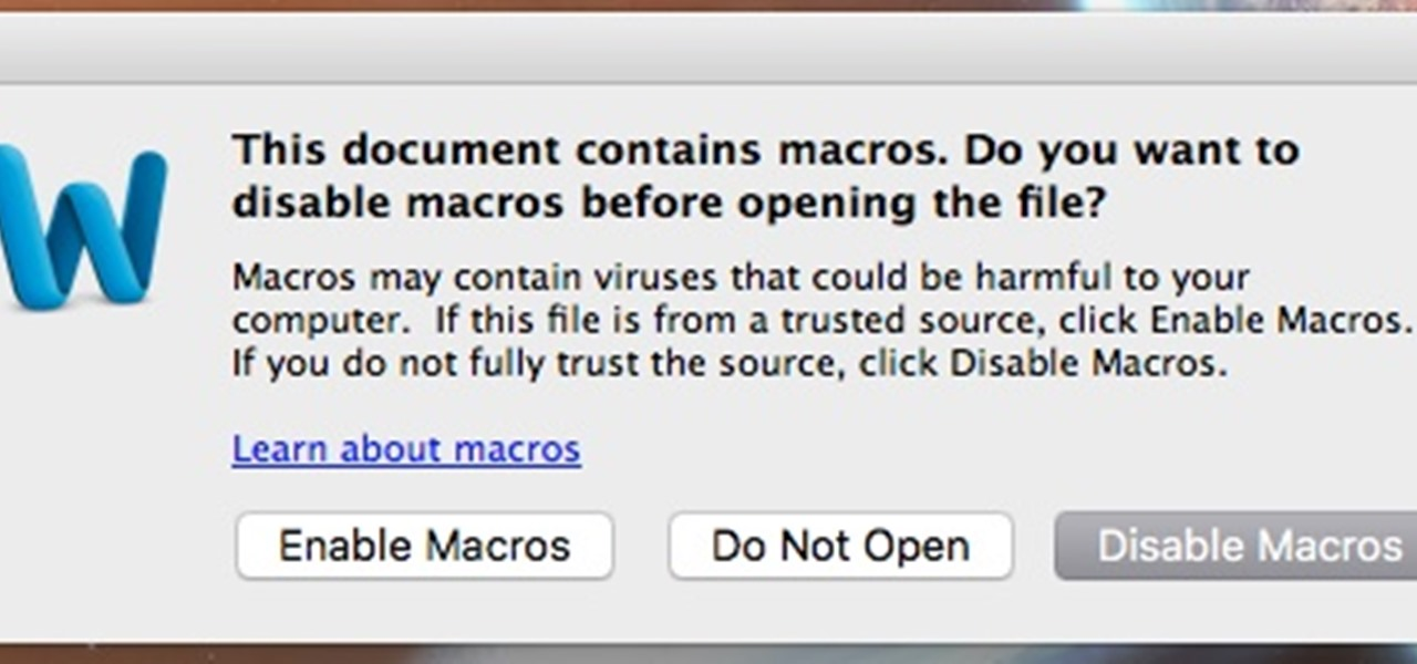 Place a Virus in a Word Document for Mac OS X