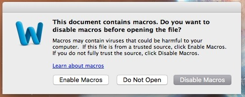 How to Place a Virus in a Word Document for Mac OS X