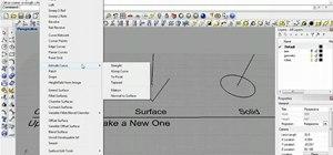 Use the geometry menus in Rhinoceros 3D