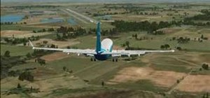 Crosswind land a plane in FSX