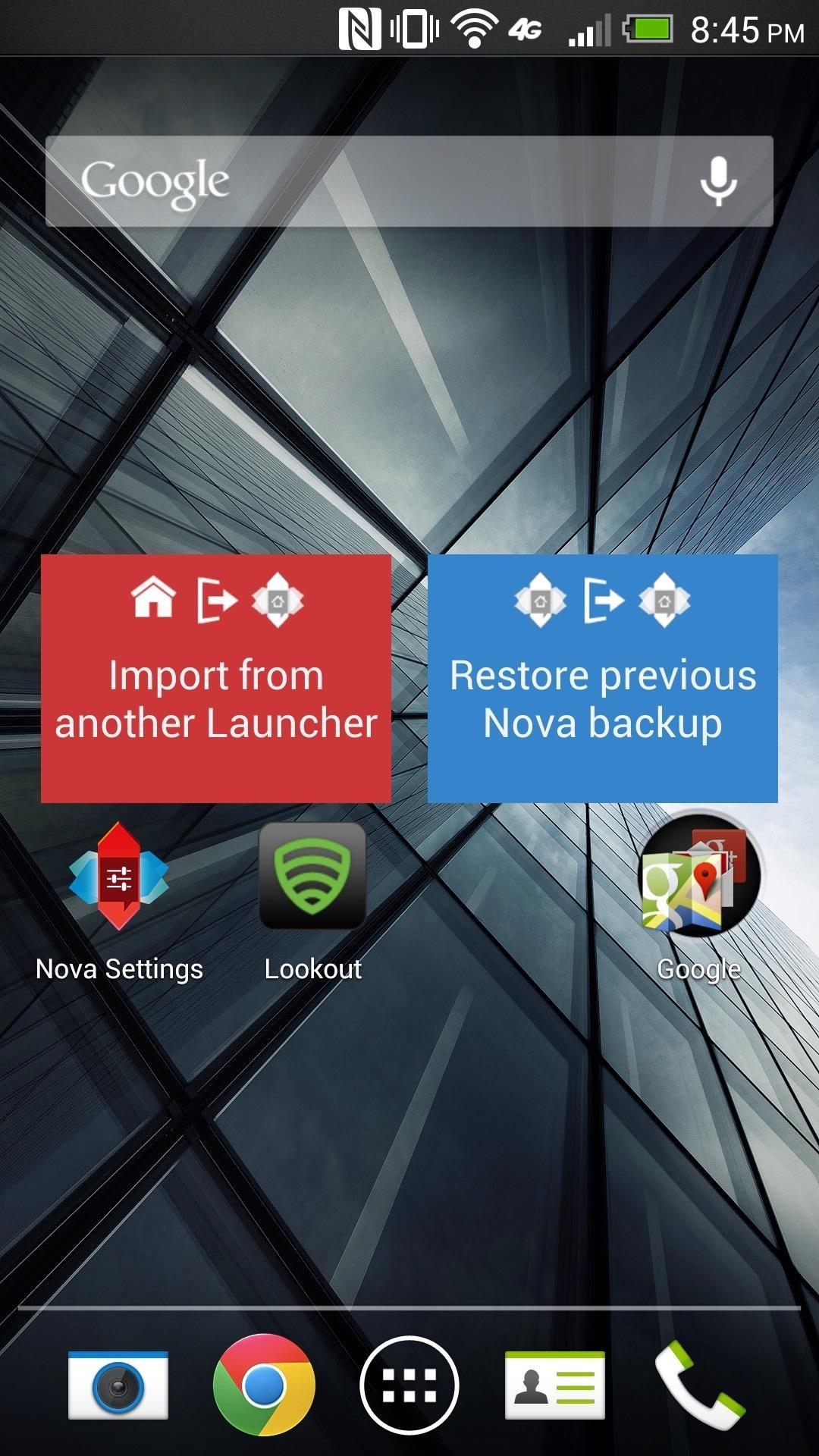 nova launcher wallpaper rotation