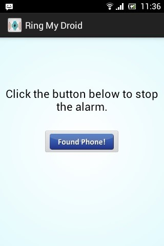 Phone' button to stop the ringing when you have found your phone
