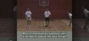 Warm up for basketball with lateral lunges