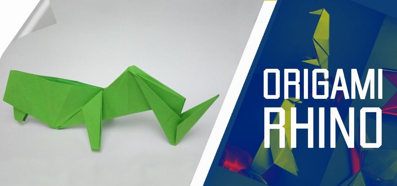 Make an Origami Rhino