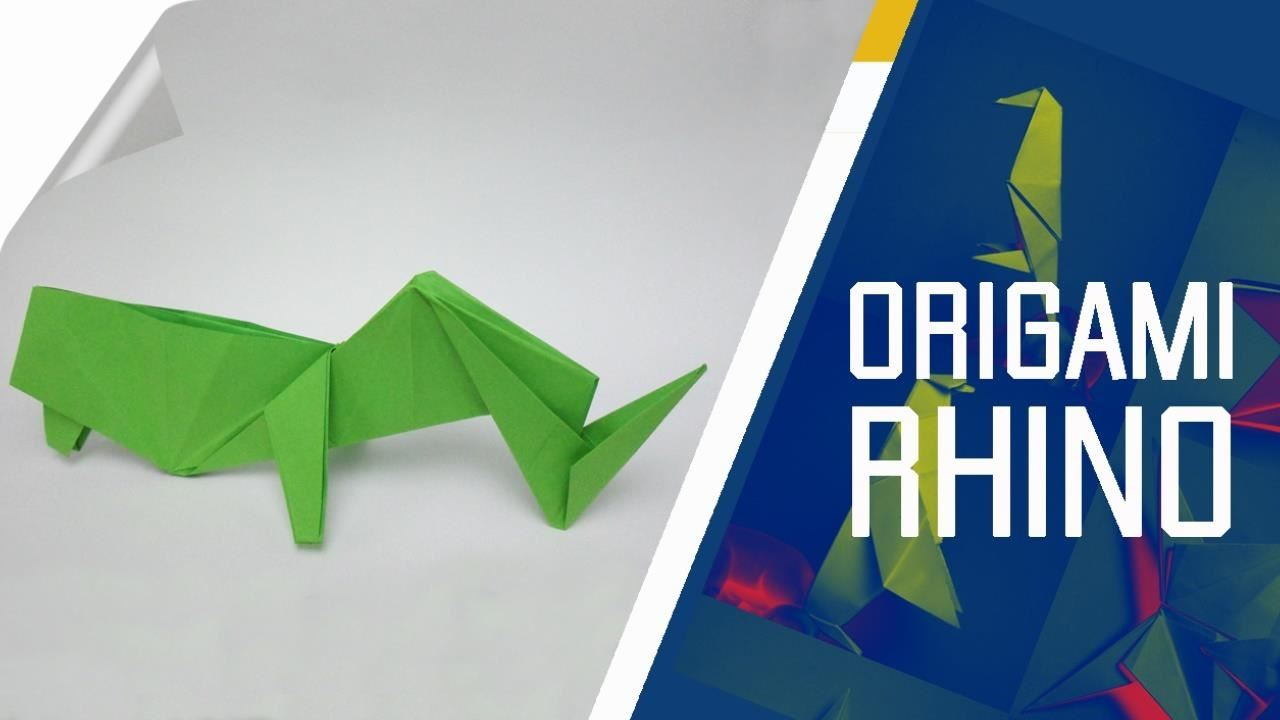 This Tutorial Explains How To Make An Origami Rhino Which Have A Traditional Star As Base