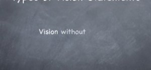 Write a great business vision statement