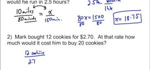 Solve a word problem that involves proportions