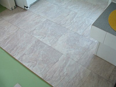Laminate flooring laminate flooring over ceramic tile for Square laminate floor tiles