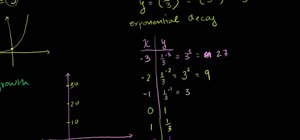 Solve exponential decay functions