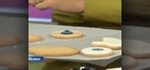 Decorate cookies with royal icing for Halloween