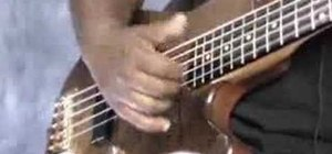 Play bass using the basic thumb technique
