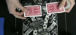 Perform the two card monte card trick