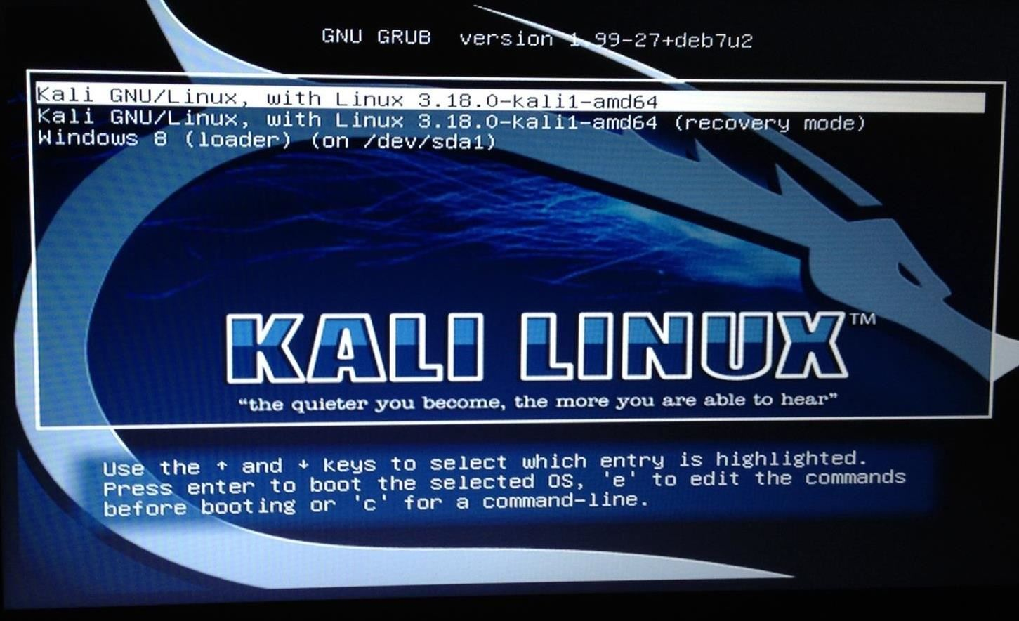 Change Kali Linux Grub Resolution