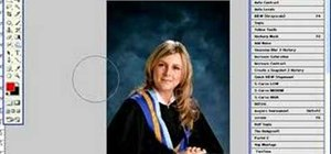 Retouch graduation photos in Photoshop