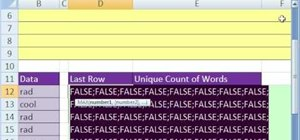 Dynamically count unique words in a column in MS Excel