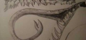 Draw a dragon's head