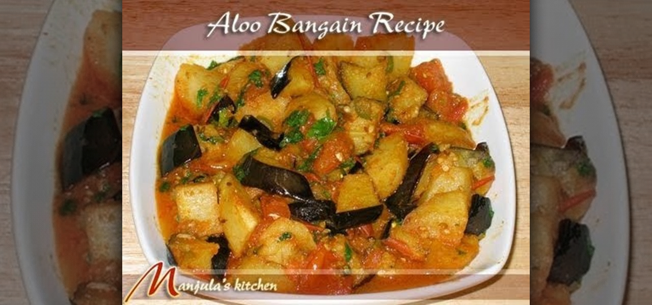 How to make indian style potatoes and eggplant with manjula how to make indian style potatoes and eggplant with manjula vegetable recipes wonderhowto forumfinder Image collections