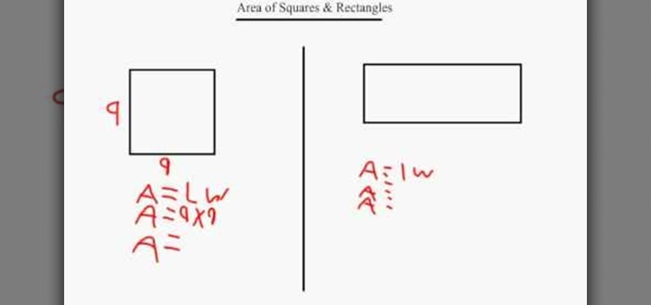 how to find the area of a square or rectangle in geometry