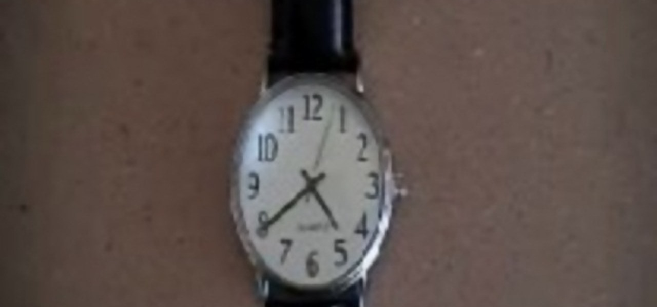 How to Use a watch as a compass to navigate when lost ...