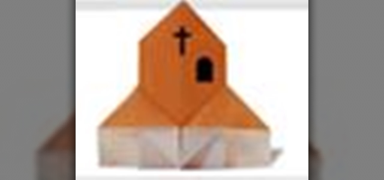 How to Origami a paper church Japanese style « Origami