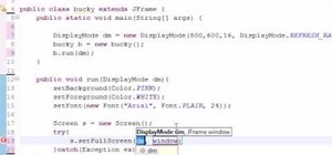 Use the display mode method in when Java programming