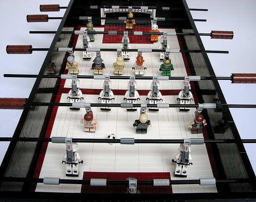 Star Wars Foosball Table Made Entirely of LEGOs